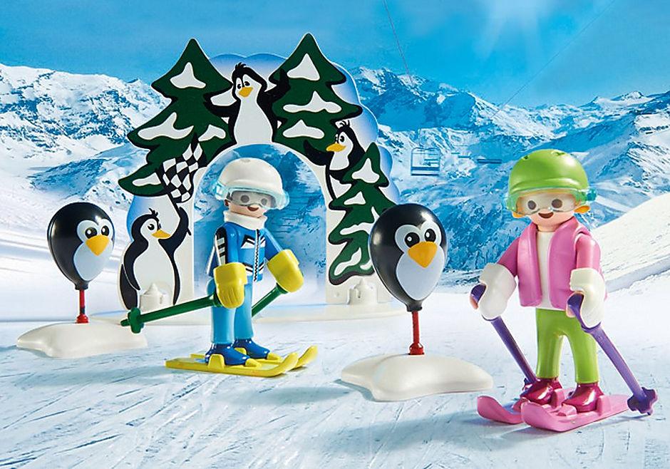 9282 Moniteur de ski avec enfants  detail image 5