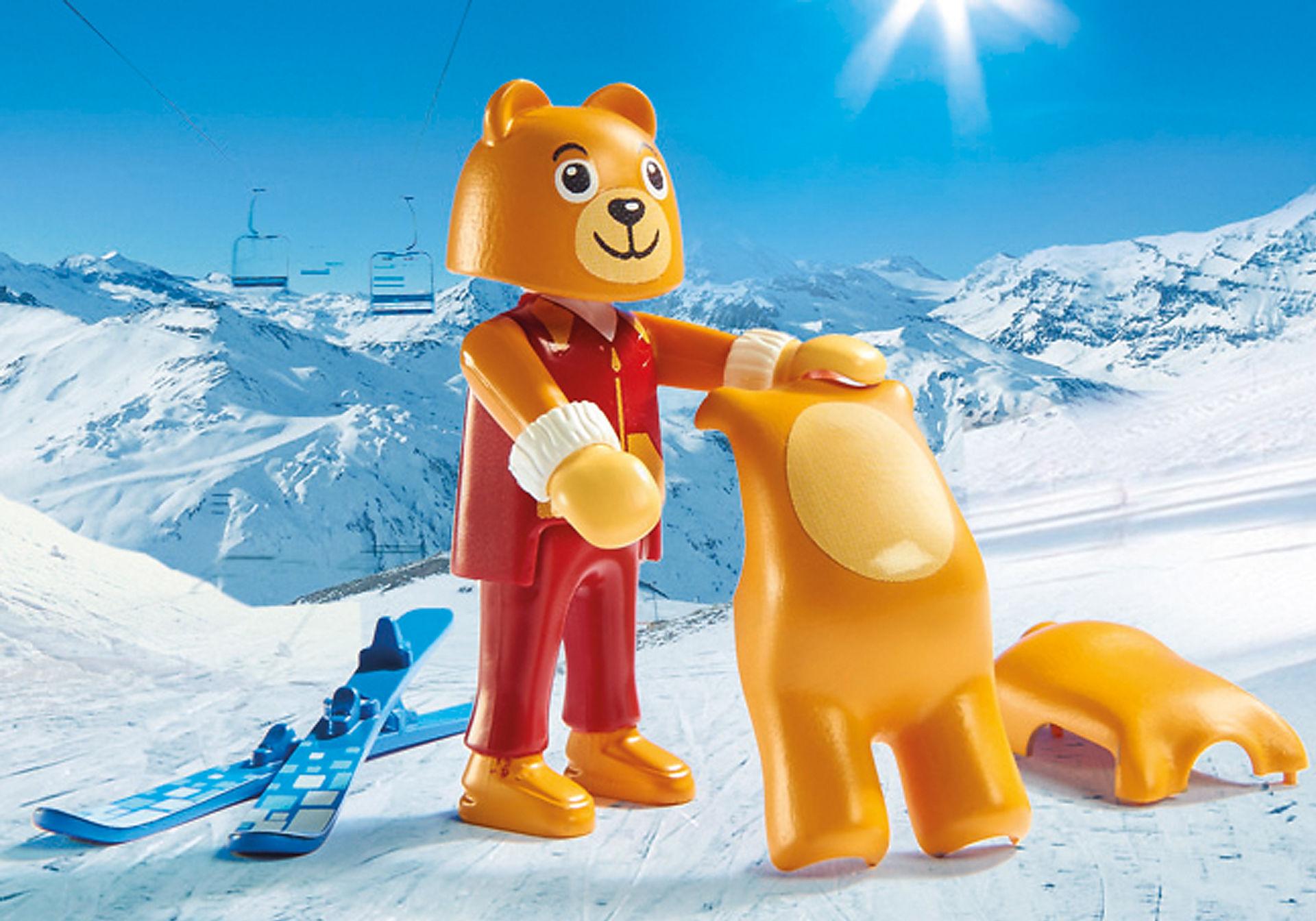 9282 Moniteur de ski avec enfants  zoom image6