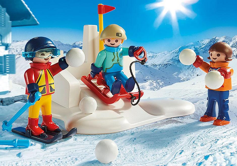 9283 Enfants avec boules de neige  detail image 5