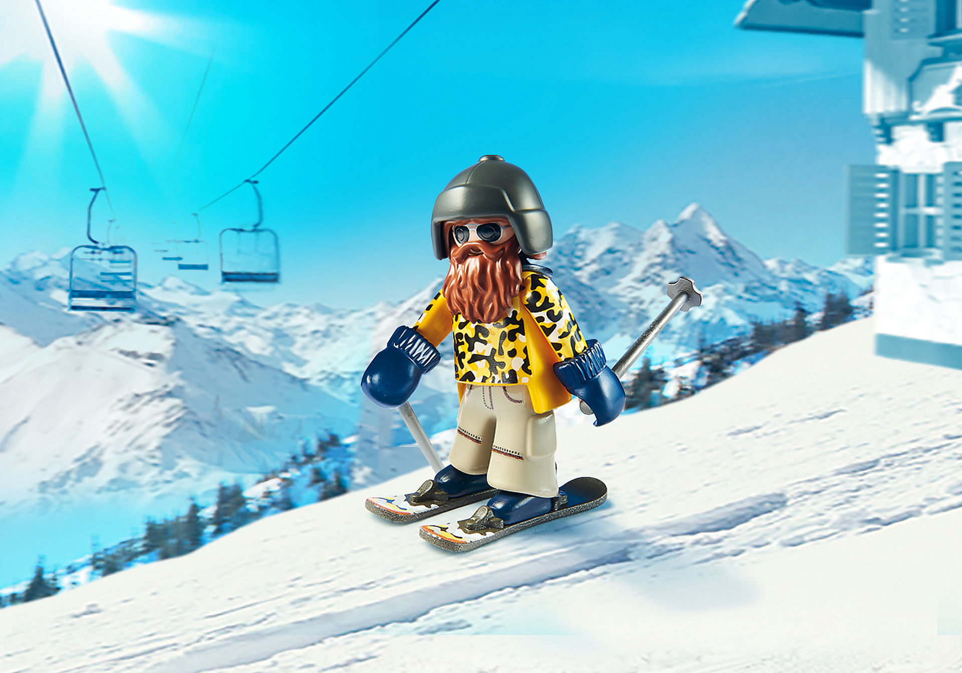 9284 Skieur avec Snowblades zoom image1