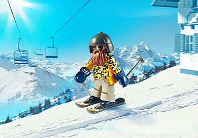 9284 Skieur avec Snowblades