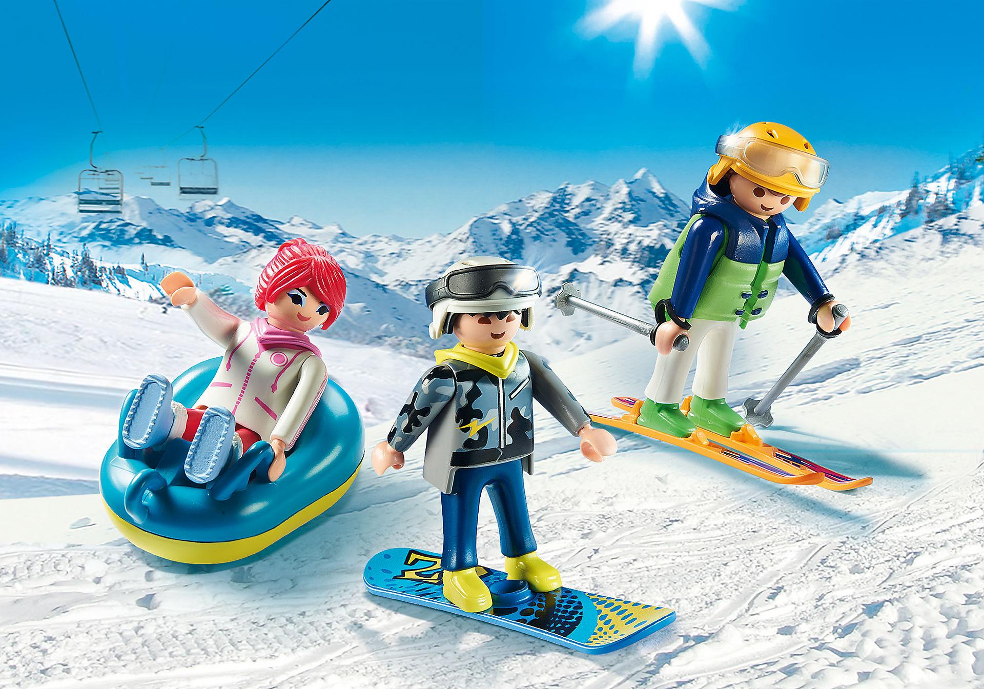 9286 Vacanciers aux sports d'hiver zoom image1