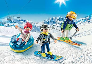 9286 Vacanciers aux sports d'hiver