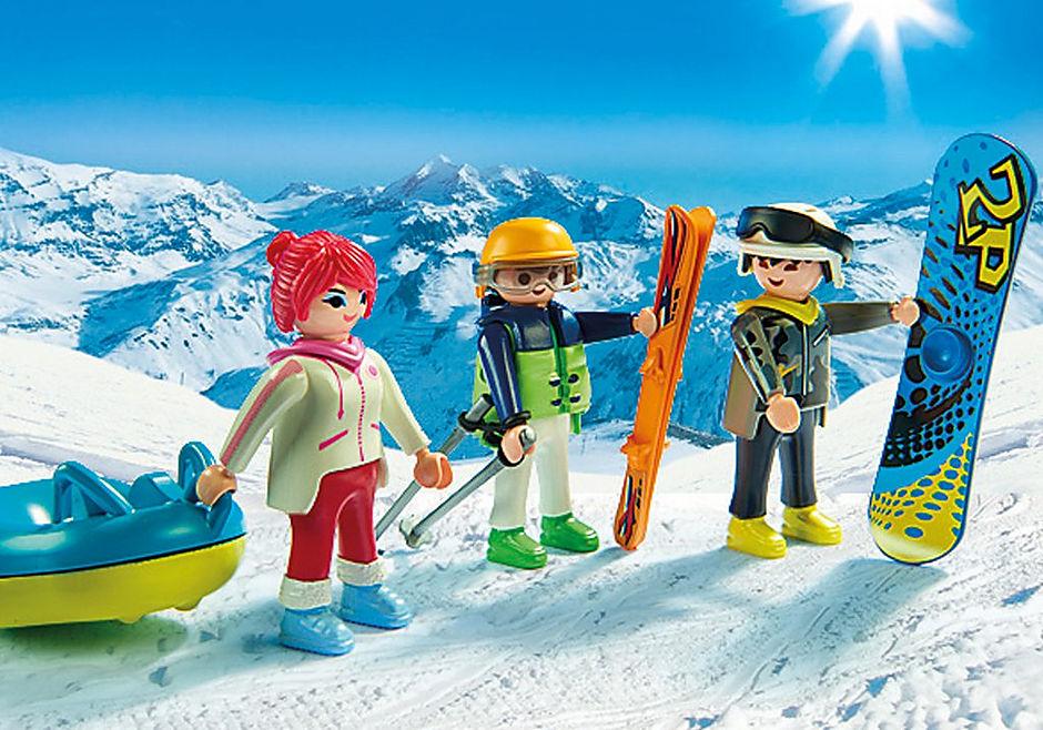 9286 Vacanciers aux sports d'hiver detail image 5