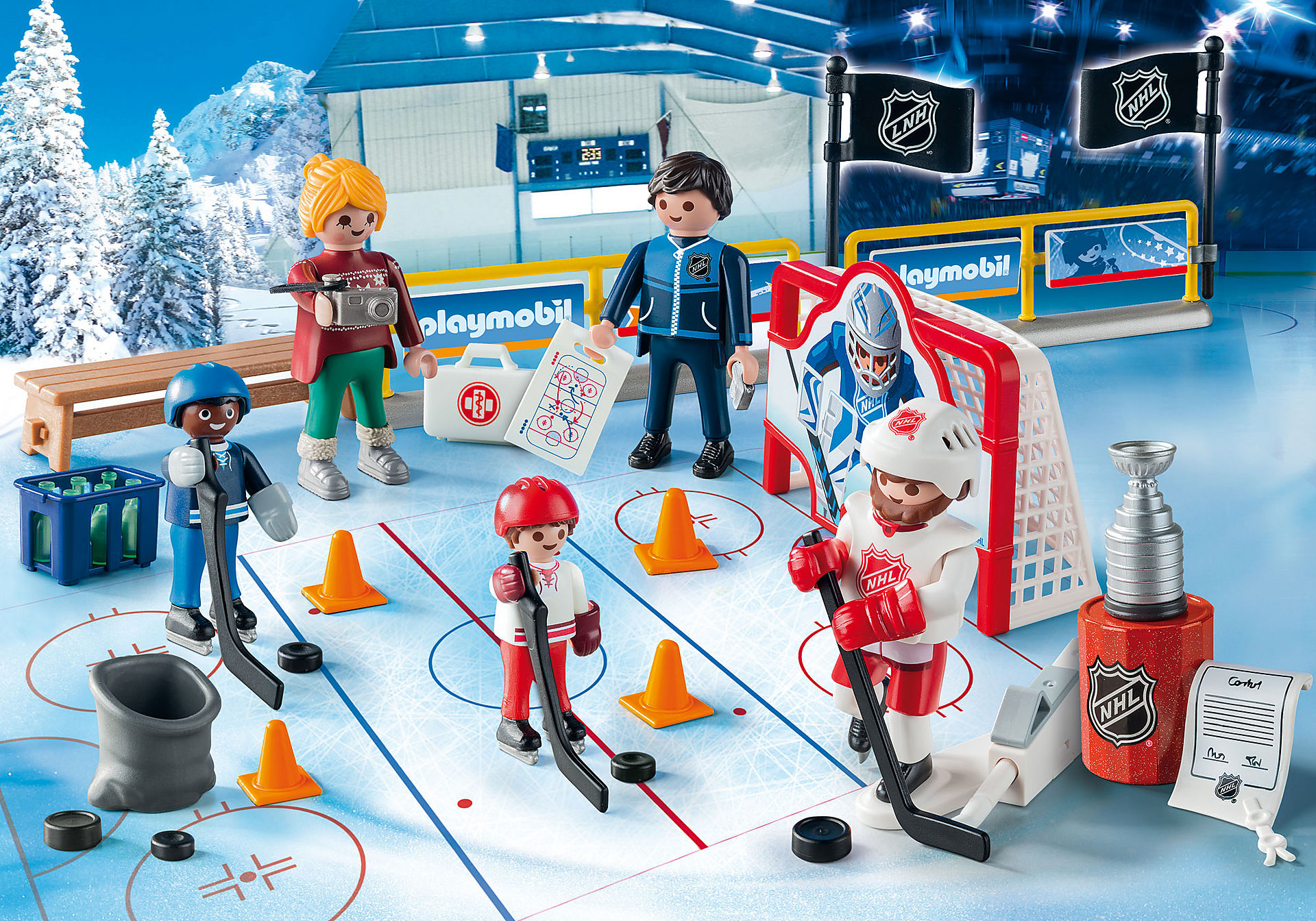 http://media.playmobil.com/i/playmobil/9294_product_extra1/NHL™ Advent Calendar - Road to the Cup