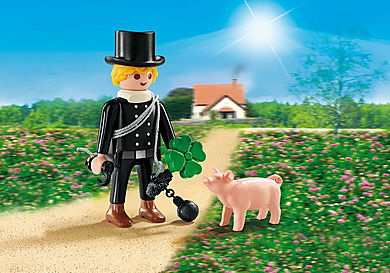 9296 Schornsteinfeger mit Glücksschweinchen