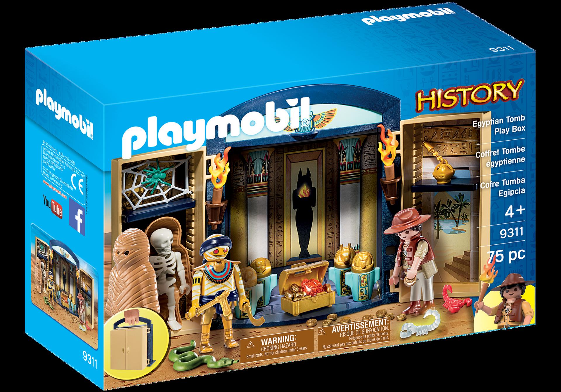 Egyptian tomb play box 9311 playmobil usa - Playmobil egyptien ...