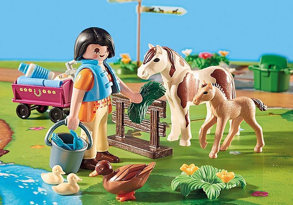 9331 Cavaliers et poneys avec support de jeu  detail image 5