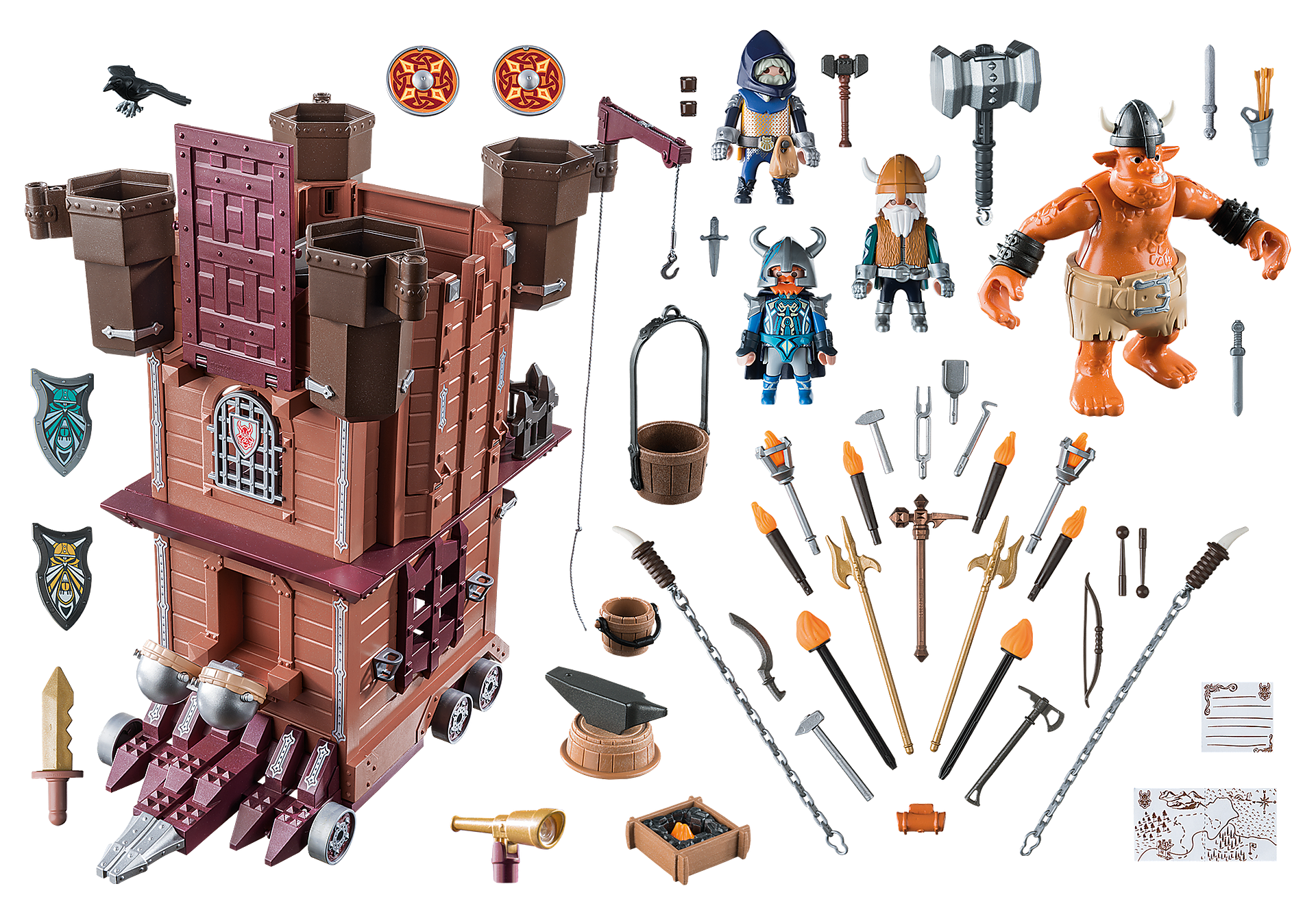 http://media.playmobil.com/i/playmobil/9340_product_box_back/Fortezza mobile dei Guerrieri
