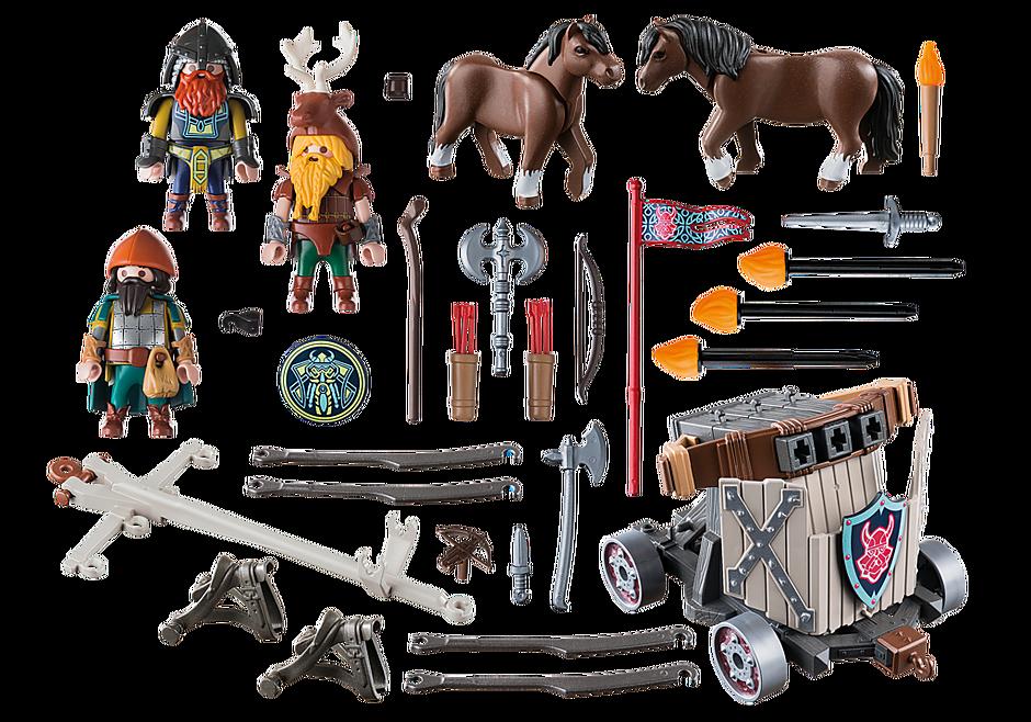 9341 Carruagem dos Anões com Cavalos e Balista detail image 4
