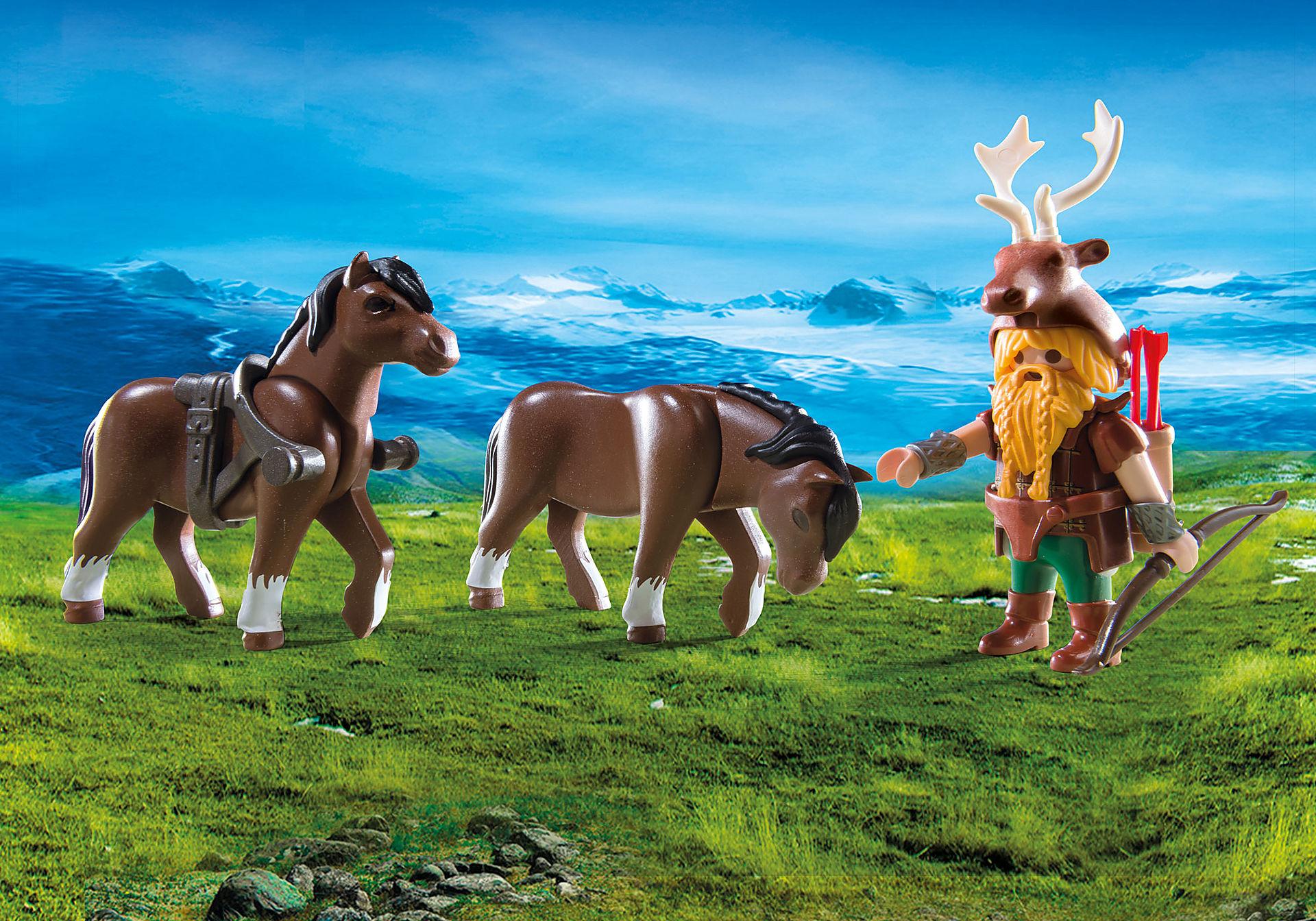 9341 Carruagem dos Anões com Cavalos e Balista zoom image5