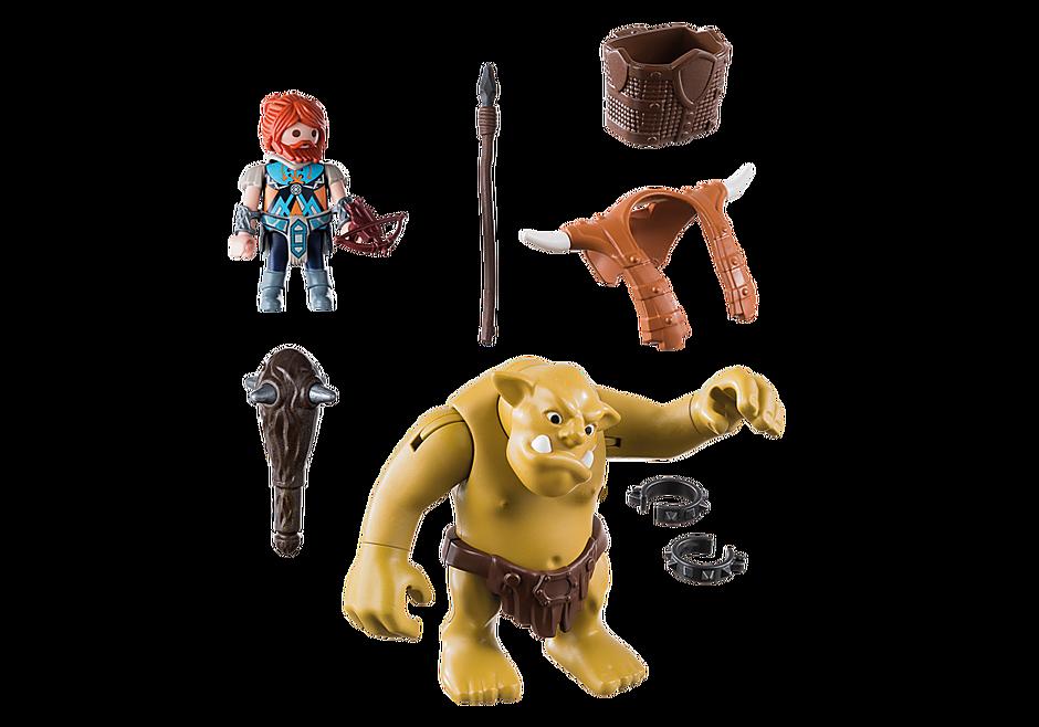 9343 Troll gigante com anão lutador detail image 4