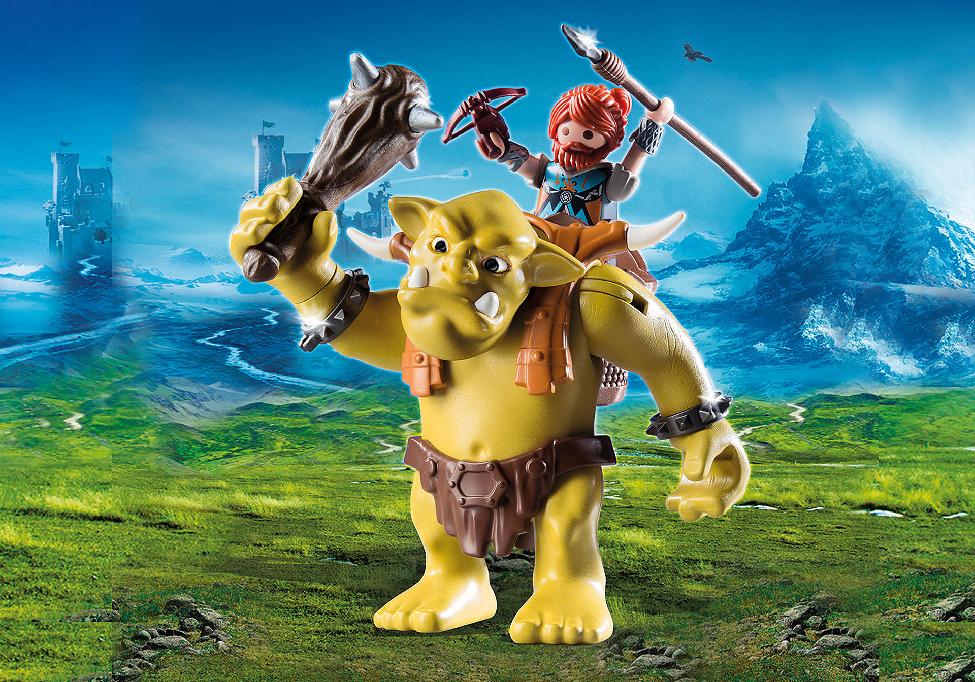 9343 Giant Troll with Dwarf Fighter zoom image1