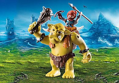 9343 Troll géant et soldat nain