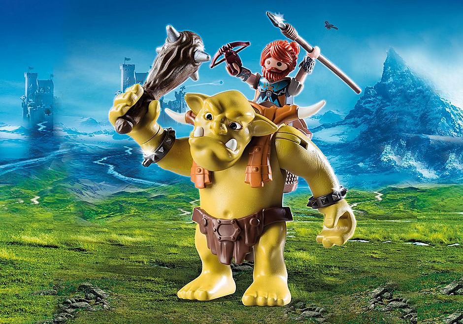 9343 Troll gigante com anão lutador detail image 1