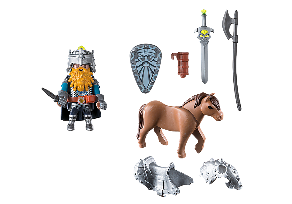 9345 Combattant nain et poney  detail image 4