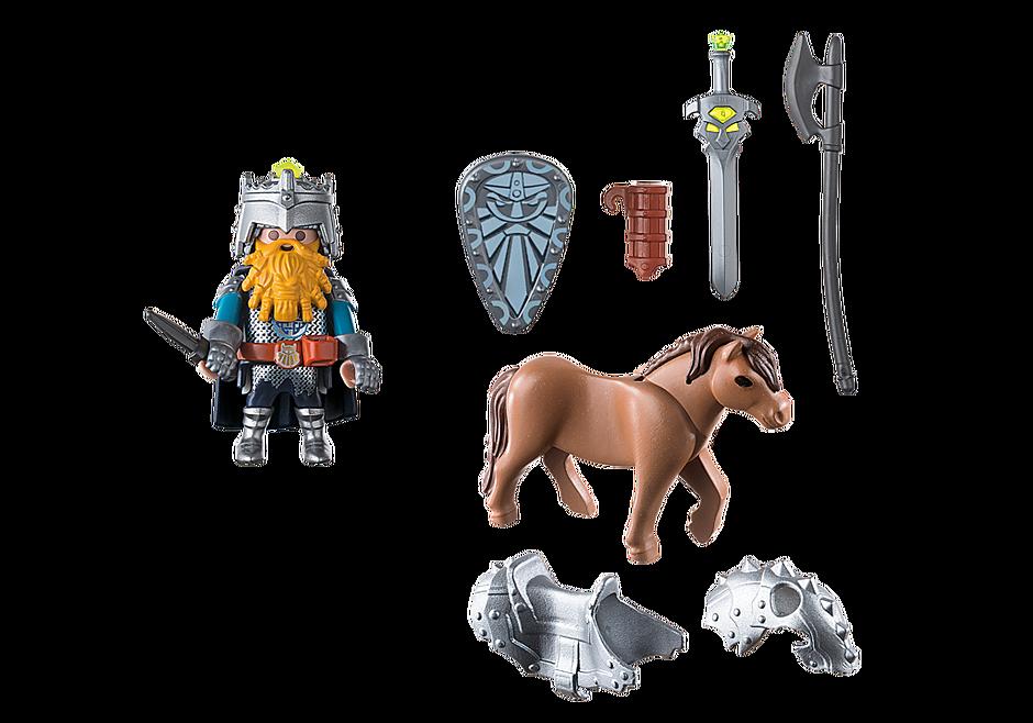 9345 Zwerg und Pony mit Rüstung detail image 4