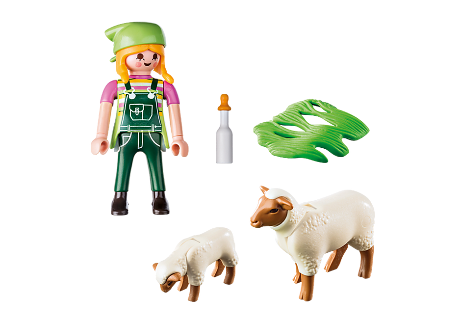 9356 Fermière avec moutons  detail image 4