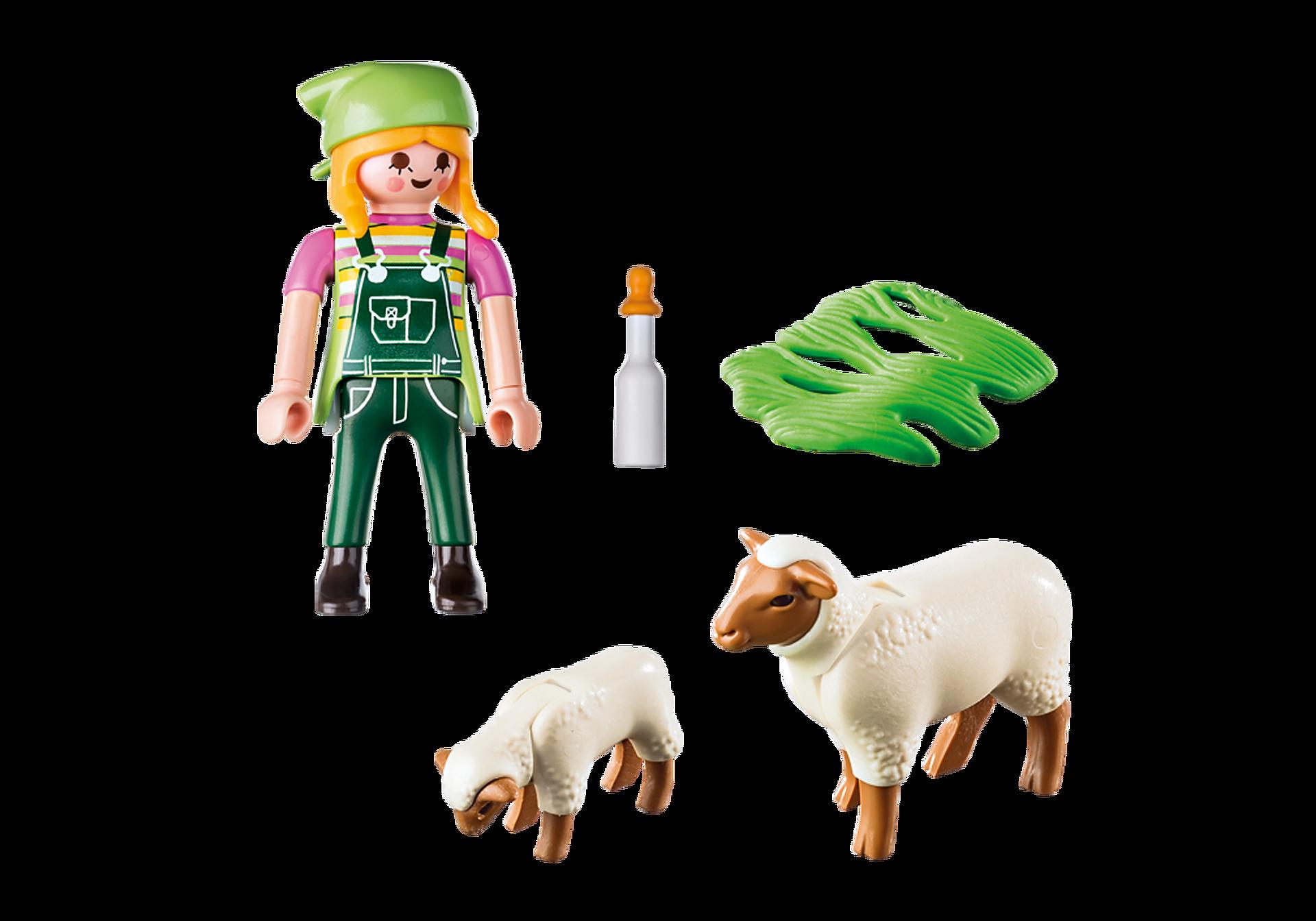 9356 Fermière avec moutons  zoom image4