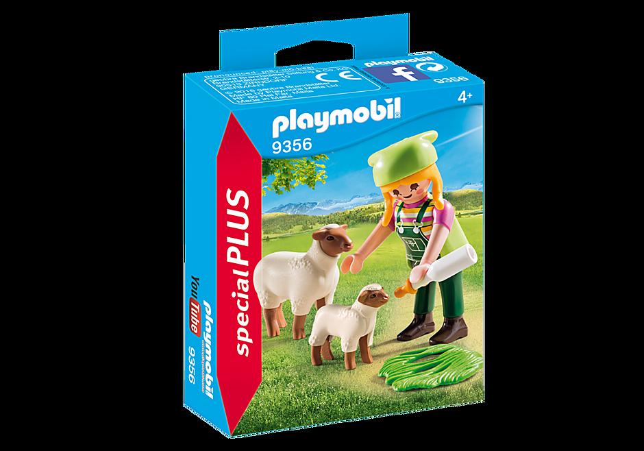9356 Fermière avec moutons  detail image 3