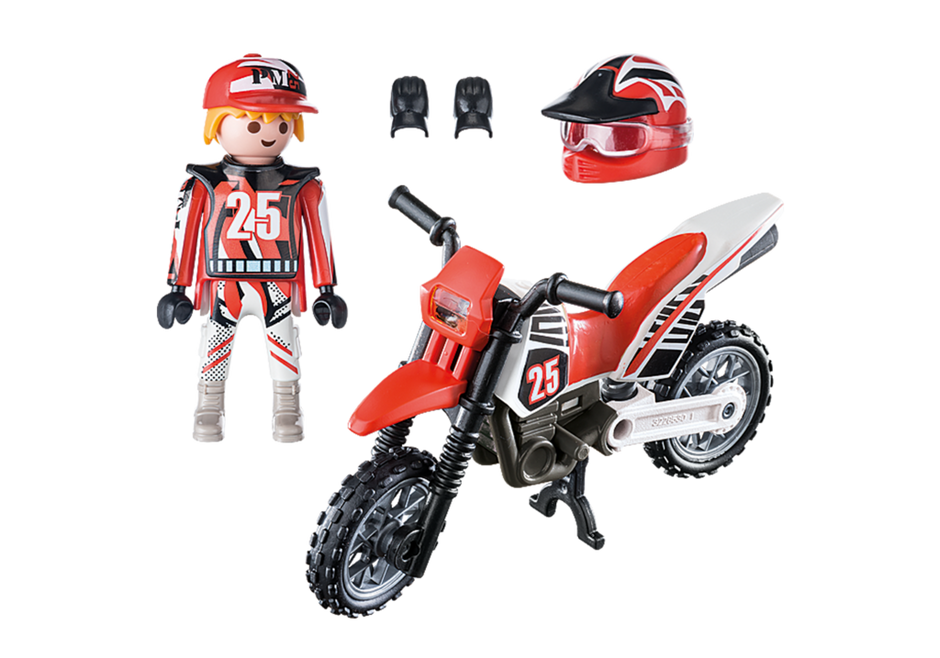 Campione di motocross 9357 playmobil italia - Moto cross playmobil ...