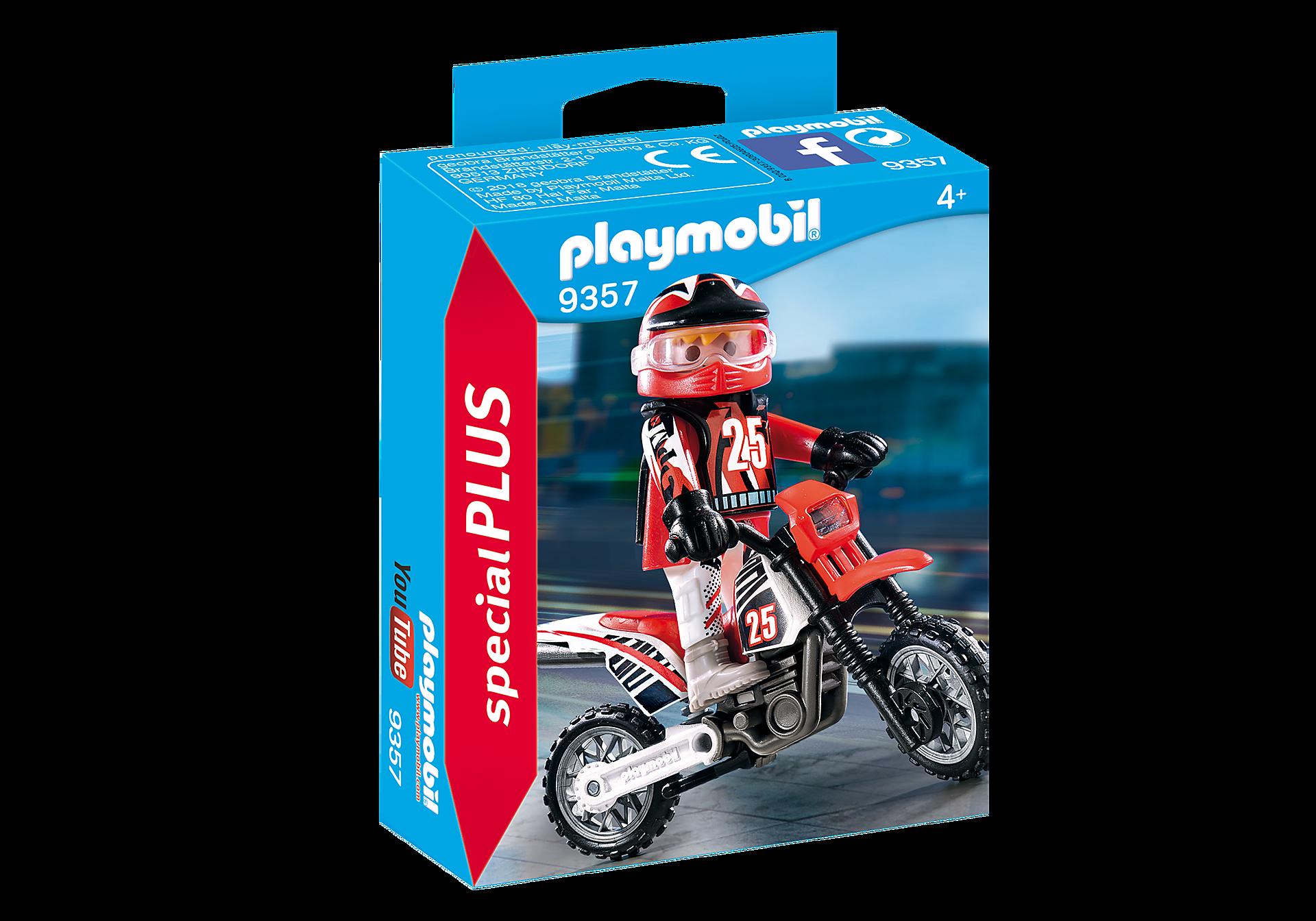 9357 Οδηγός μηχανής motorcross zoom image3