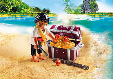 9358 Pirate with Treasure Chest