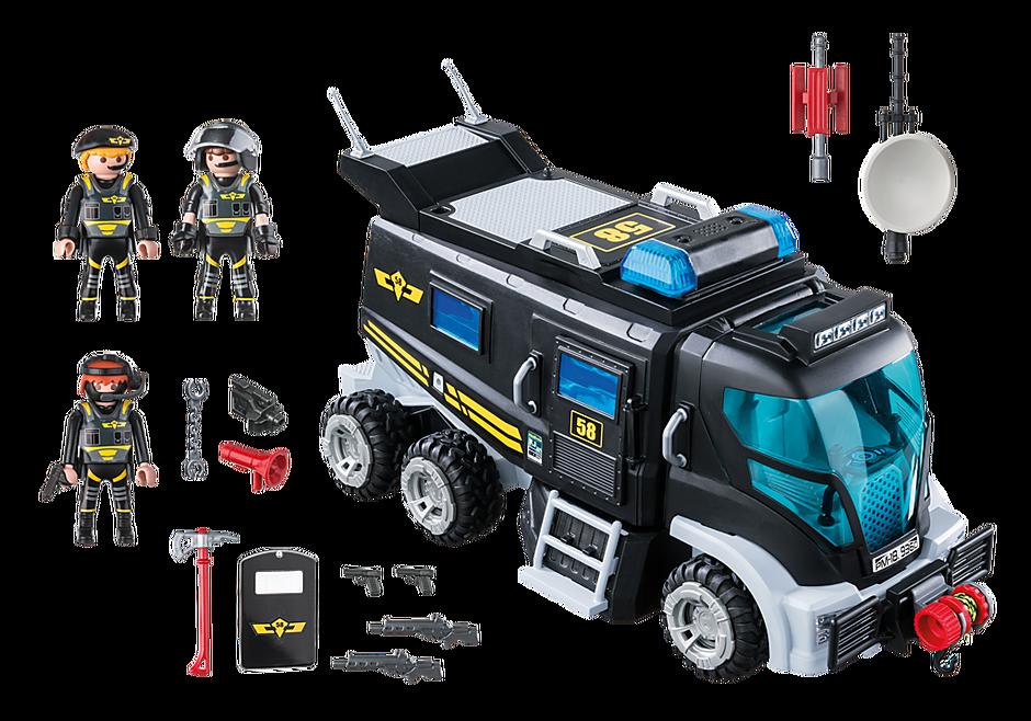 9360 Camion des policiers d'élite avec sirène et gyrophare  detail image 5