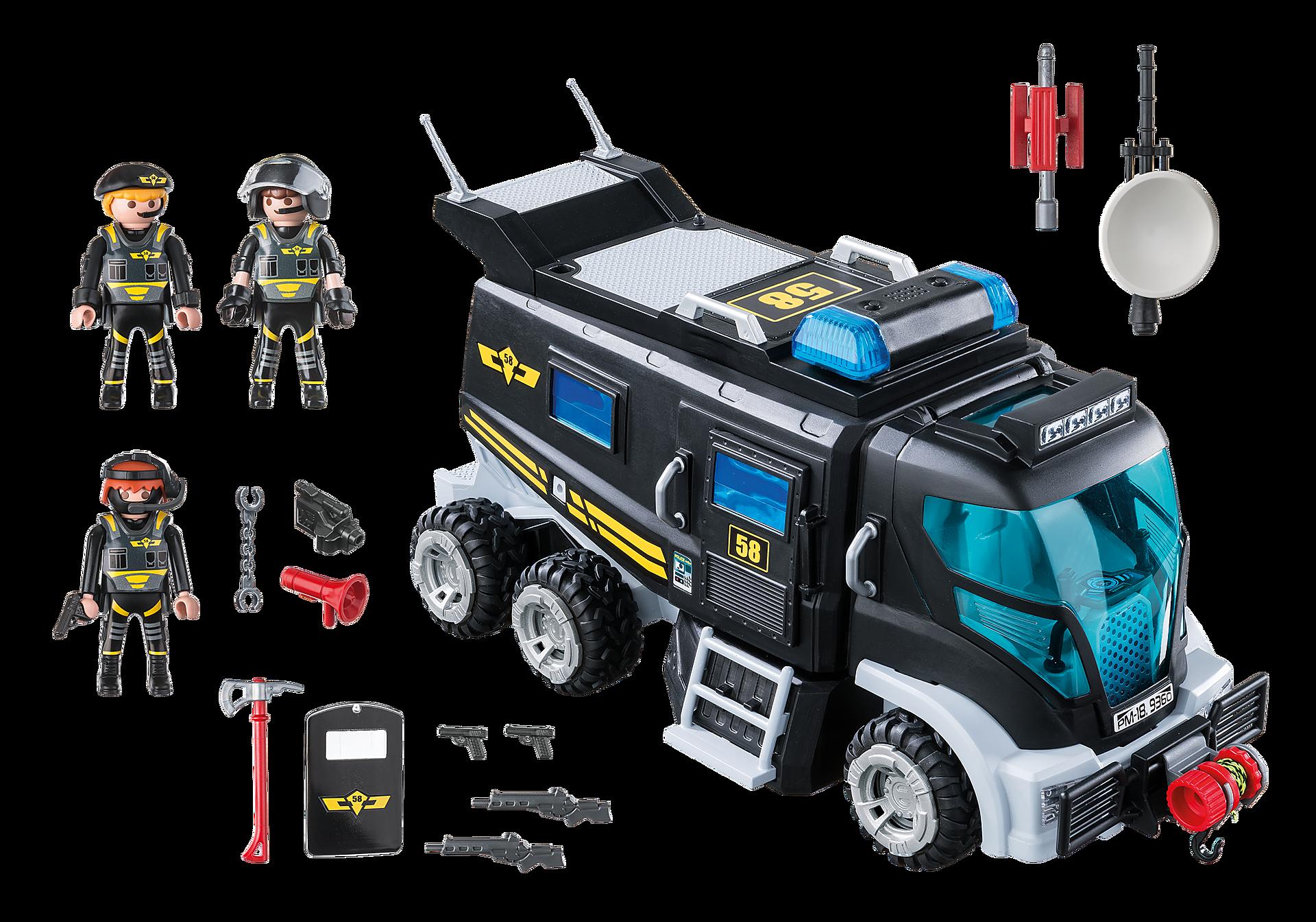 9360 Camion des policiers d'élite avec sirène et gyrophare  zoom image5