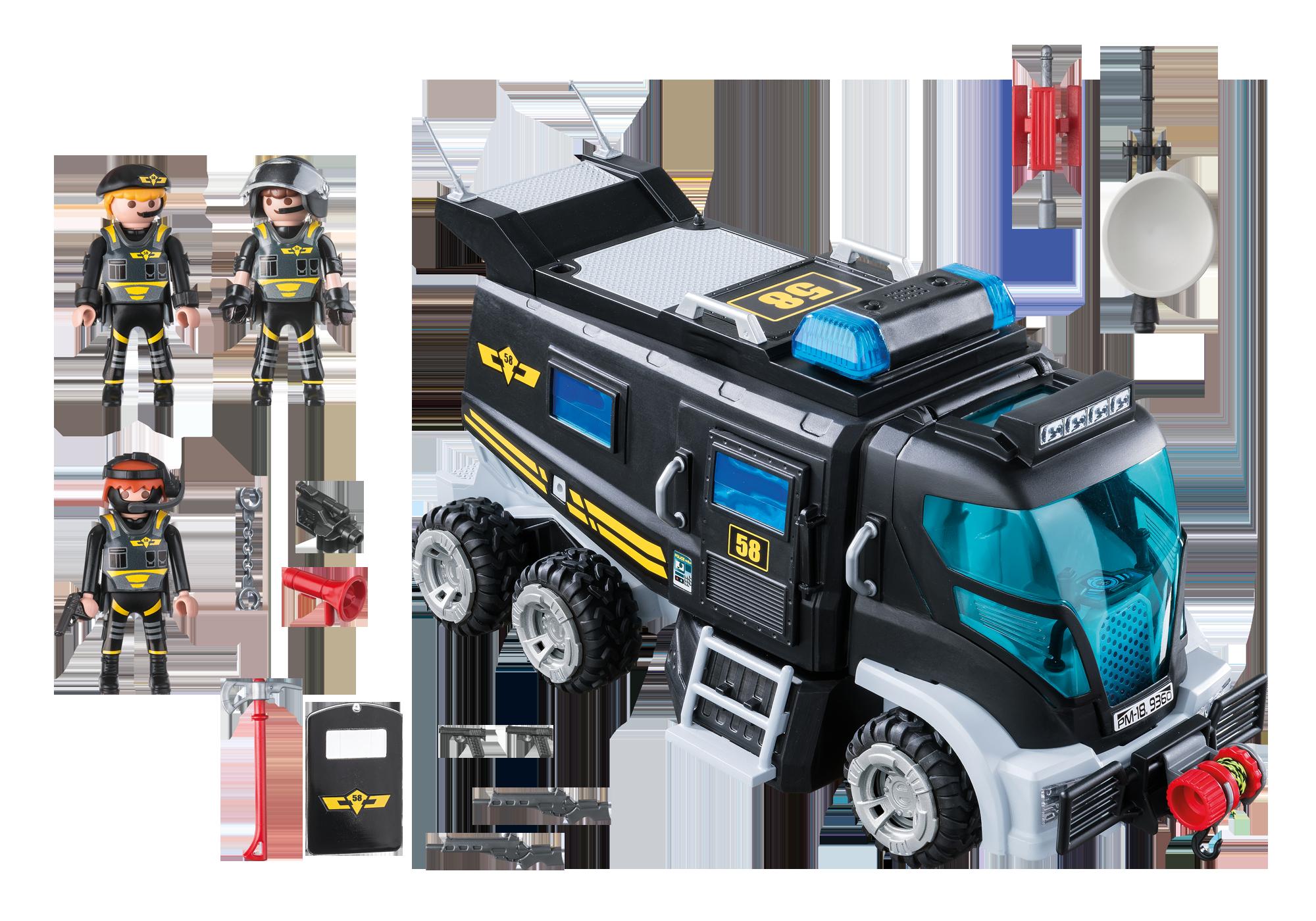 http://media.playmobil.com/i/playmobil/9360_product_box_back/Camion des policiers d'élite avec sirène et gyrophare