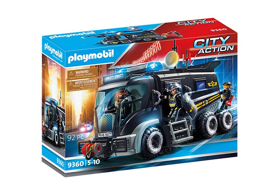 9360 Camion des policiers d'élite avec sirène et gyrophare  detail image 4