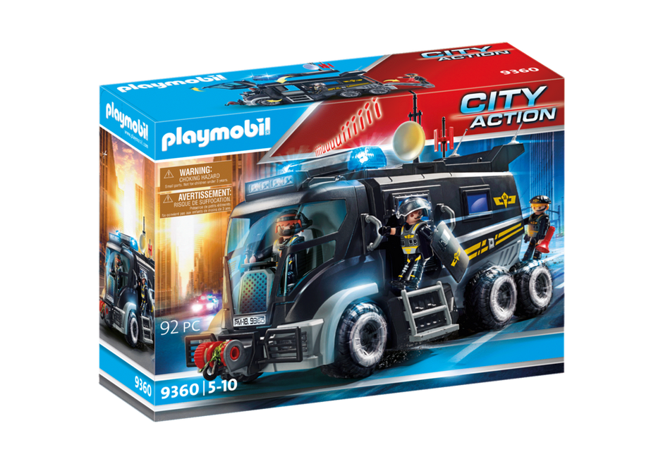 swat truck 9360 playmobil. Black Bedroom Furniture Sets. Home Design Ideas