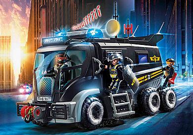 9360 Camion des policiers d'élite avec sirène et gyrophare
