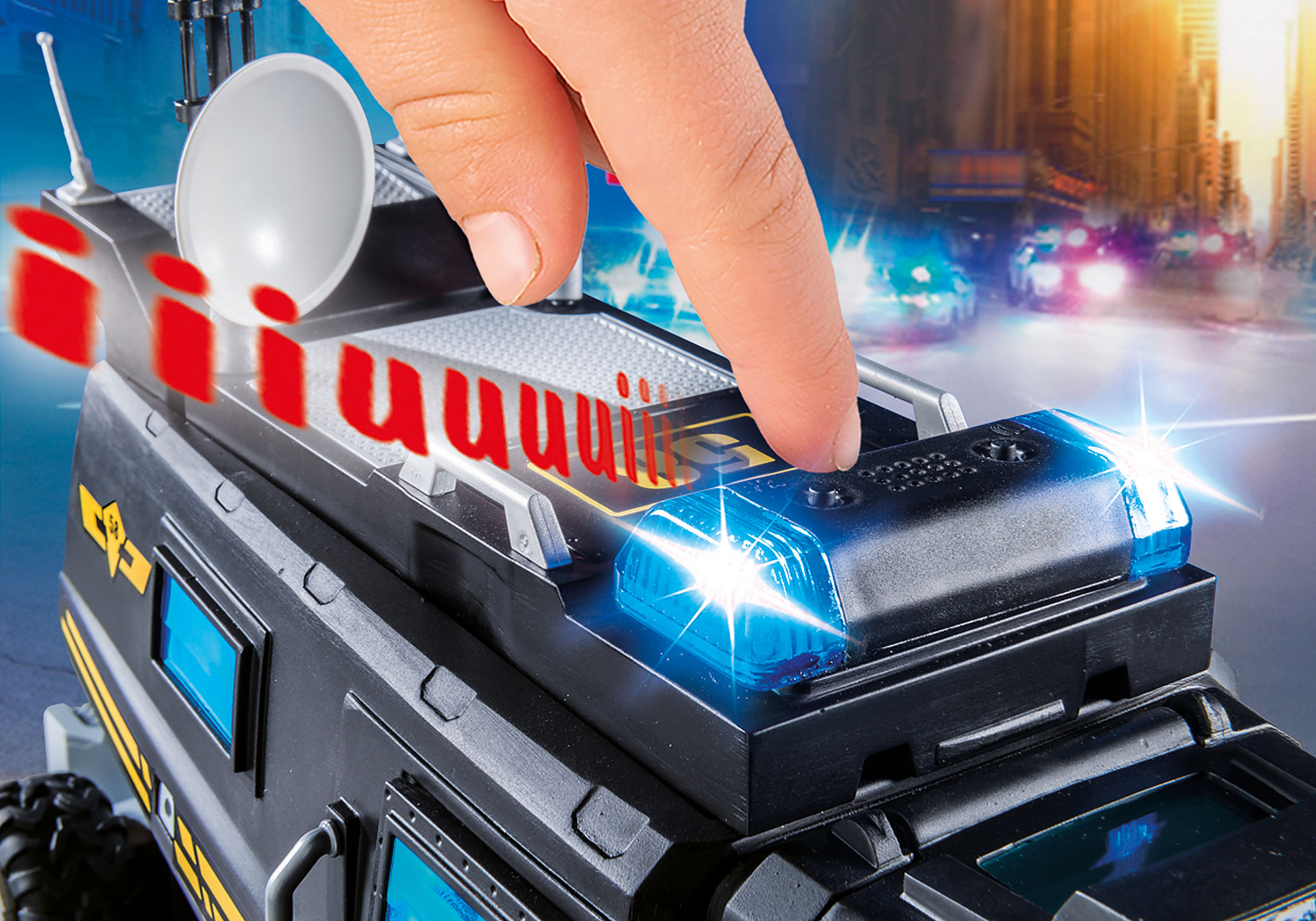 9360 Camião das Forças Especiais com luz LED e som zoom image5