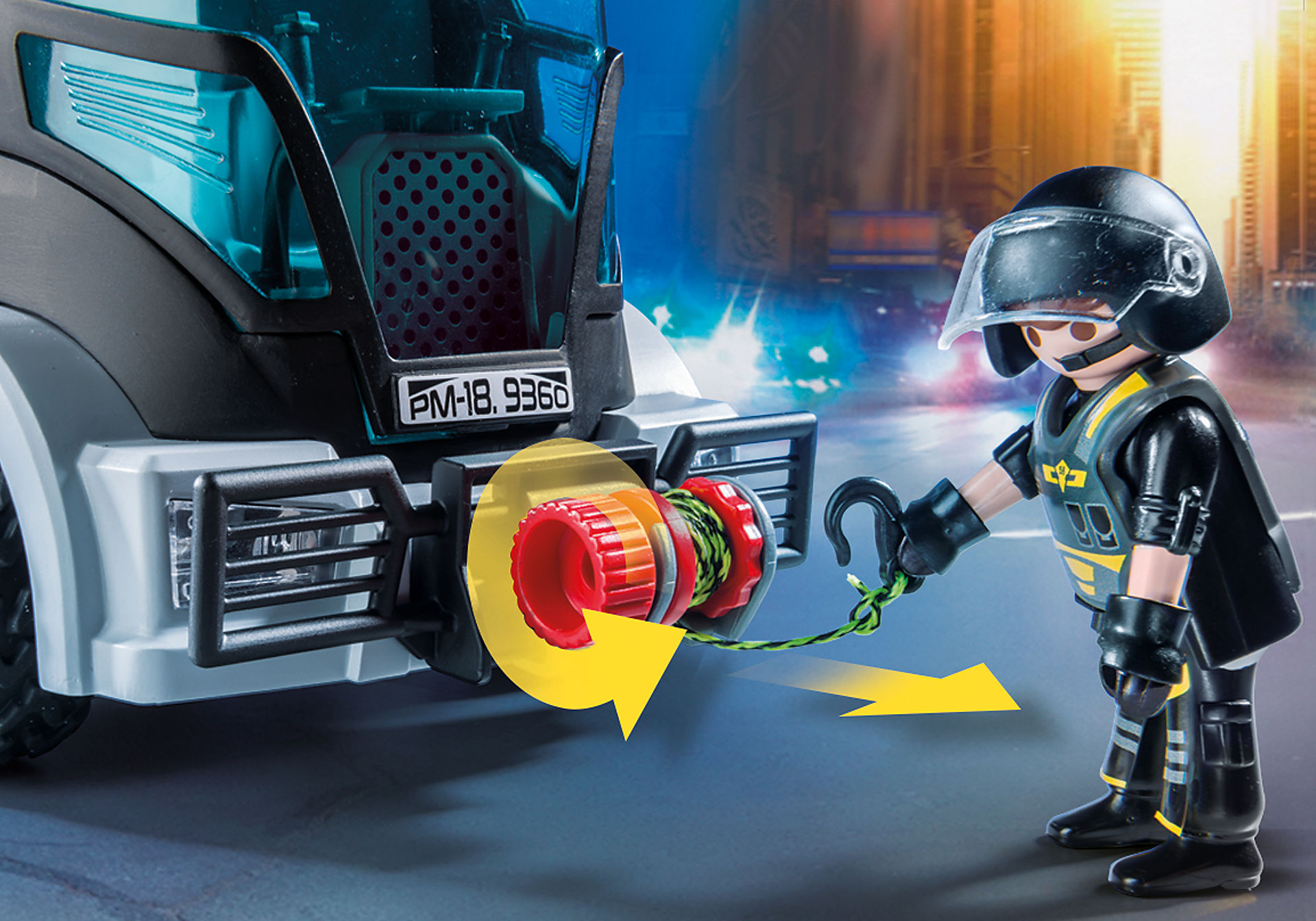 http://media.playmobil.com/i/playmobil/9360_product_extra2/Camion des policiers d'élite avec sirène et gyrophare