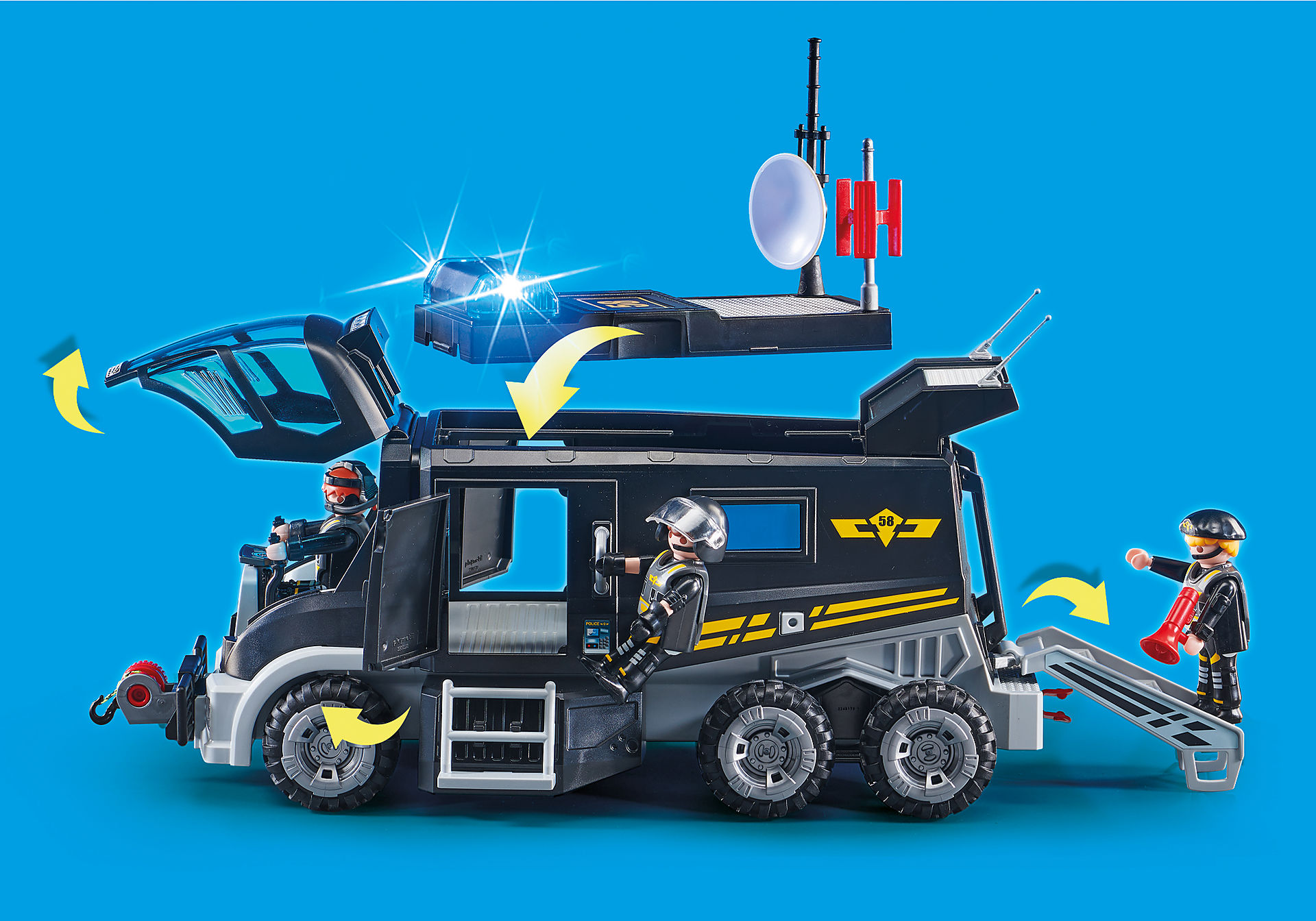 http://media.playmobil.com/i/playmobil/9360_product_extra3/Pojazd jednostki specjalnej ze światłem i dźwiękiem