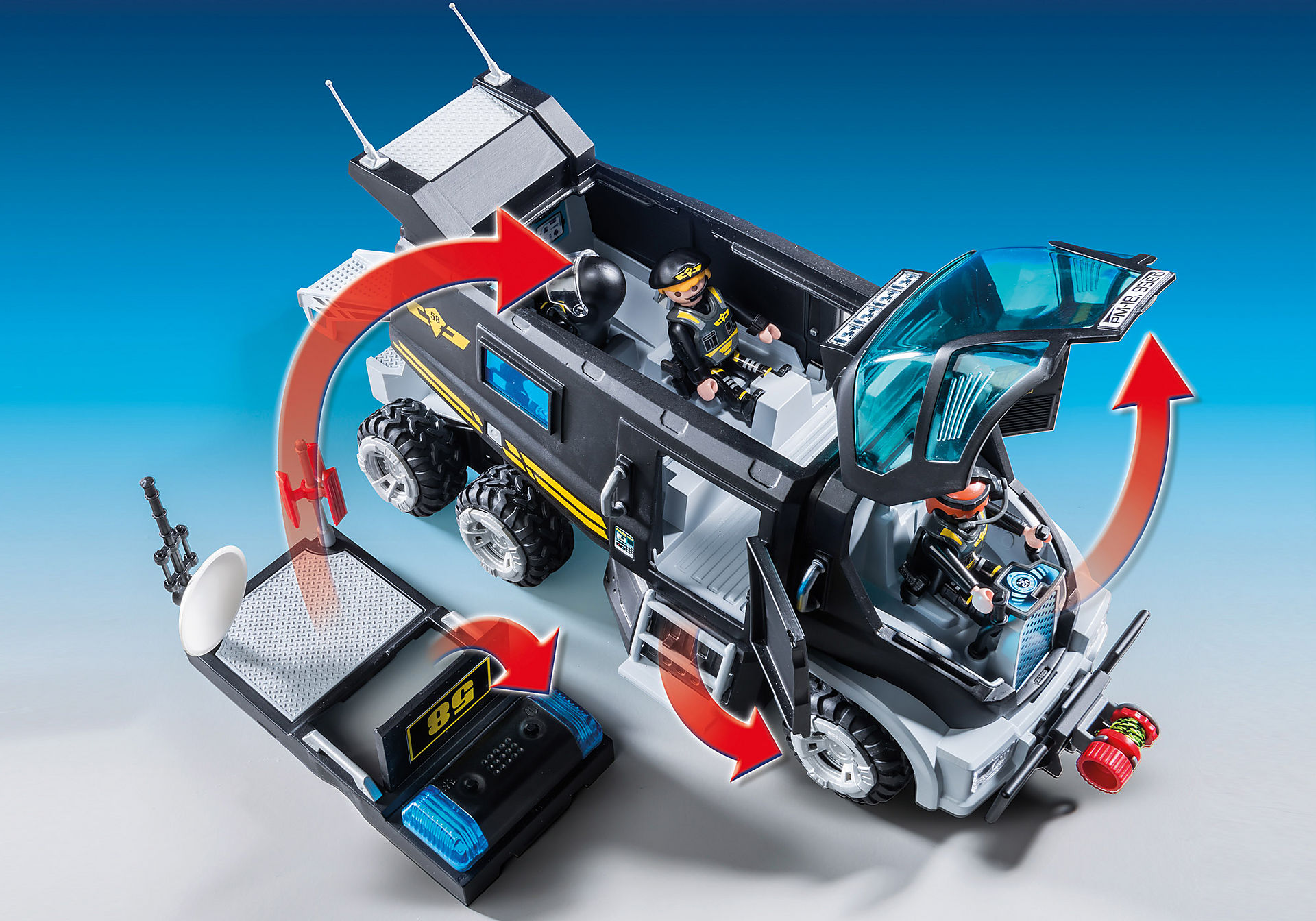 http://media.playmobil.com/i/playmobil/9360_product_extra4/Vehículo con luz LED y módulo de sonido