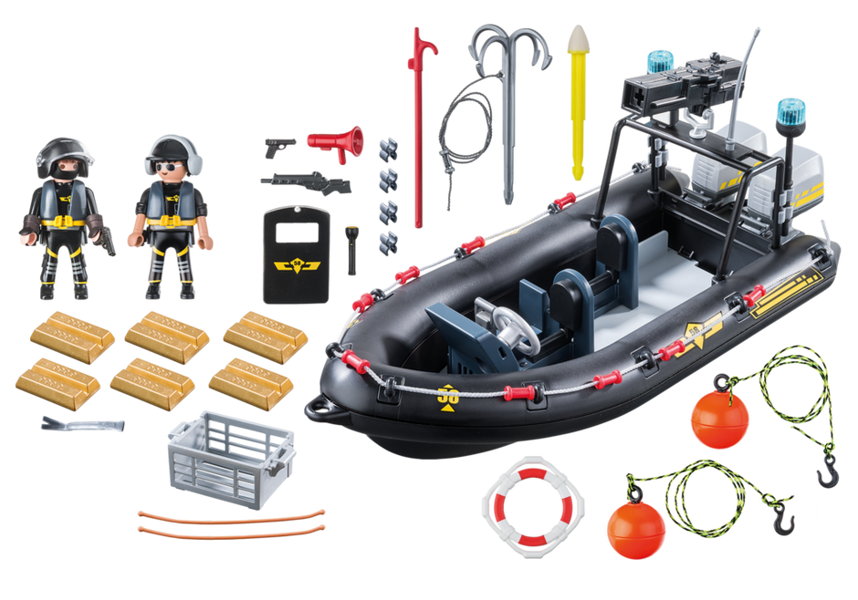 city action playmobil 9362 sekpolizeischlauchboot appbr