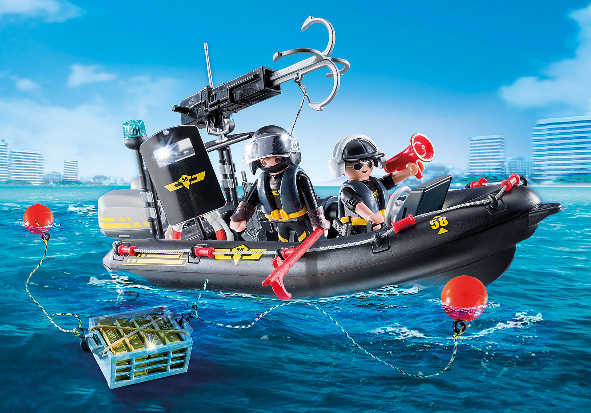 http://media.playmobil.com/i/playmobil/9362_product_detail/Gommone Unità Speciale con refurtiva