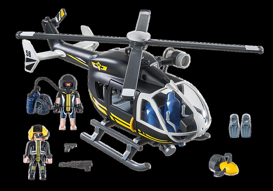 9363 Hélicoptère et policiers d'élite  detail image 4