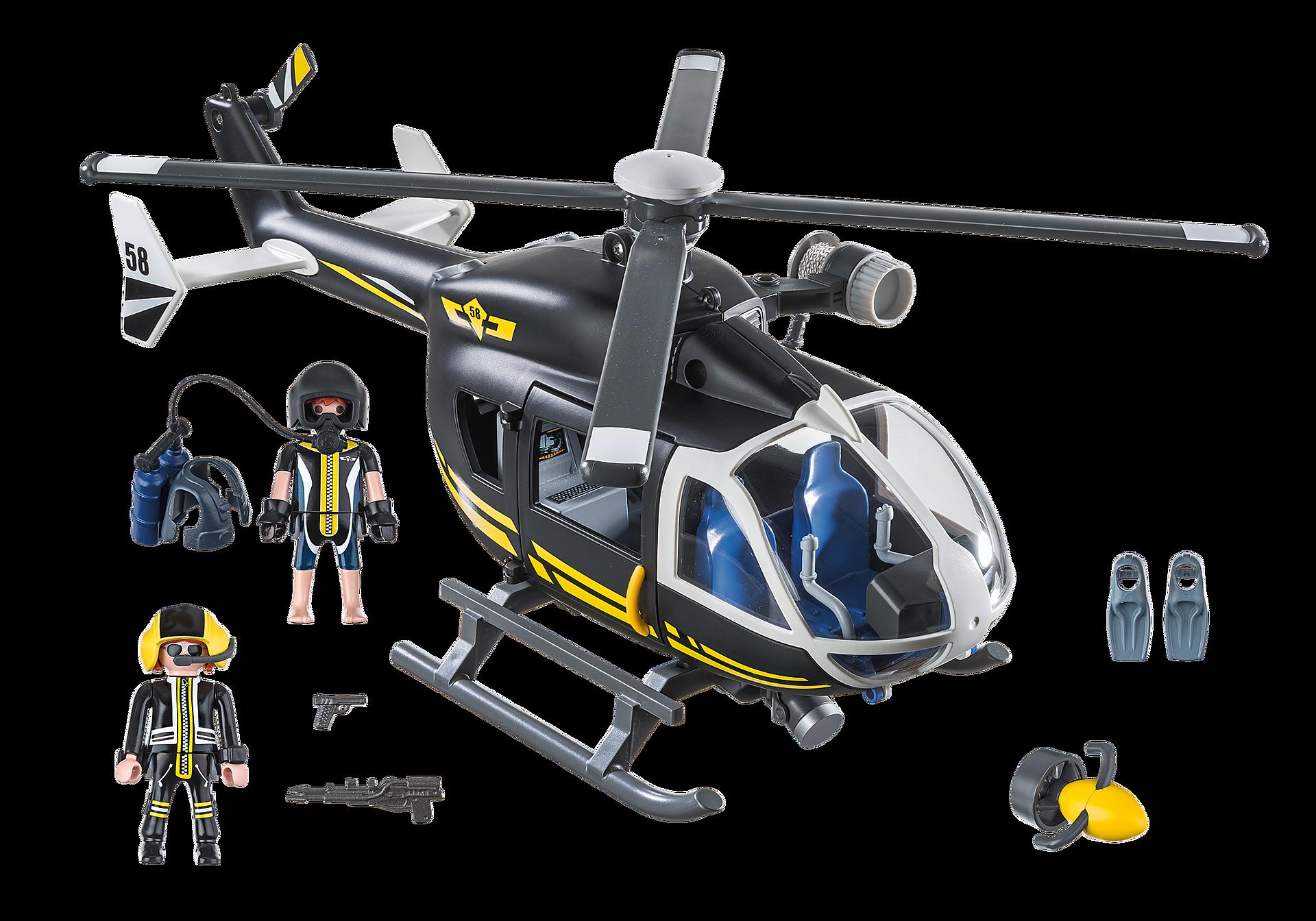 9363 Hélicoptère et policiers d'élite  zoom image4