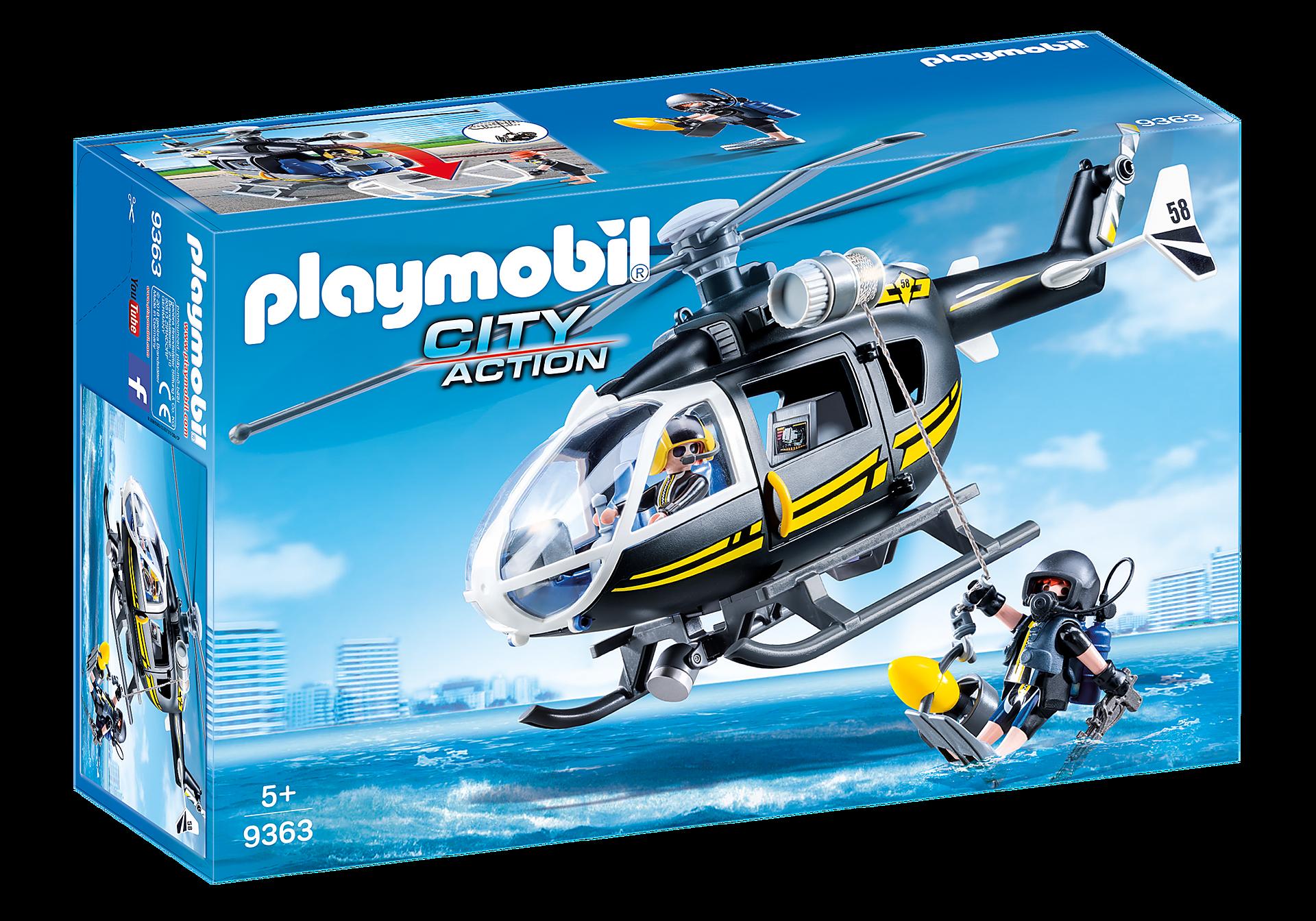 9363 Hélicoptère et policiers d'élite  zoom image3