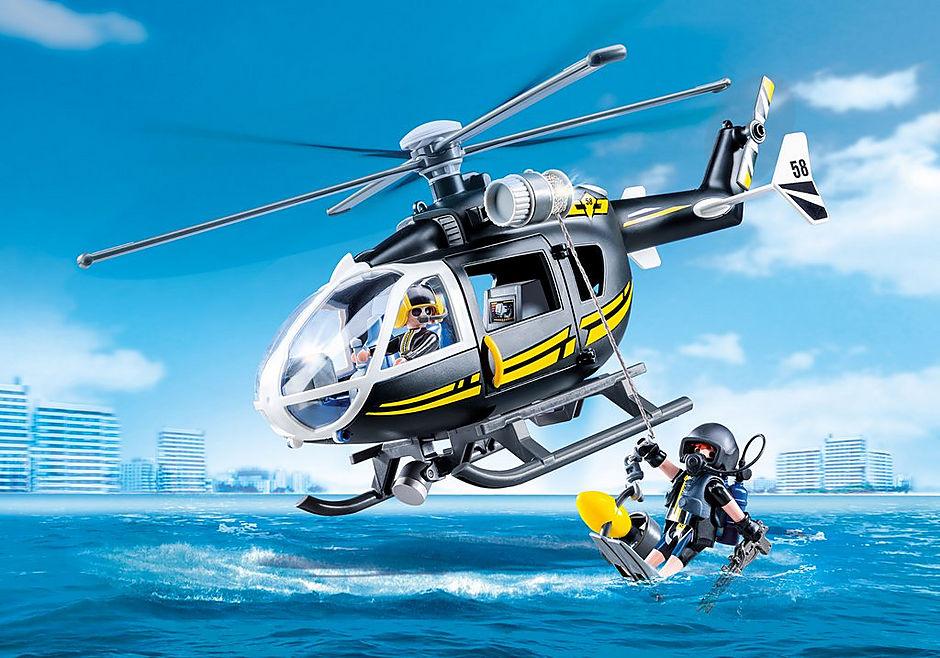 9363 Hélicoptère et policiers d'élite  detail image 1