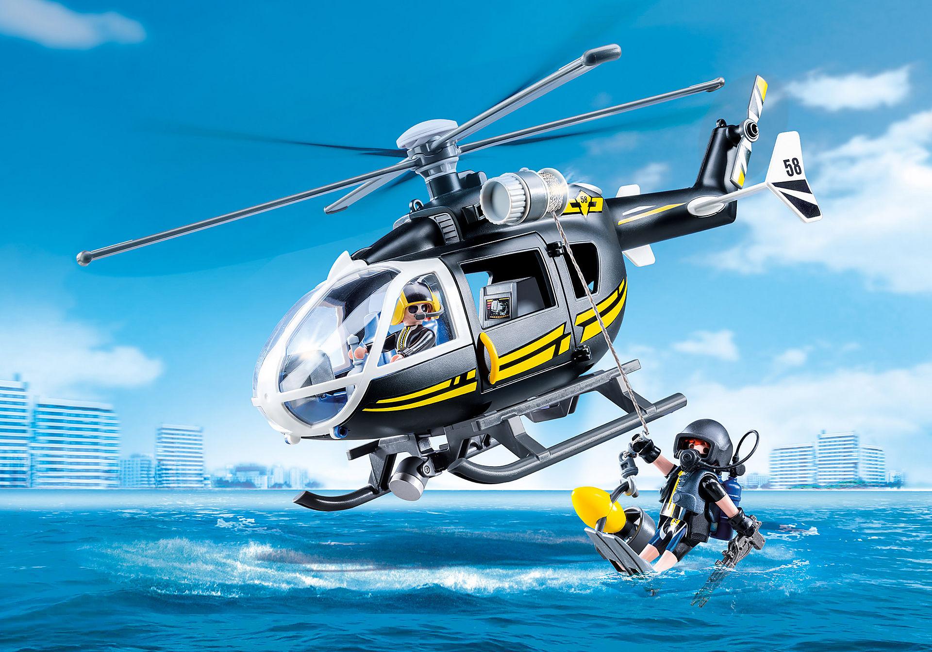 9363 Hélicoptère et policiers d'élite  zoom image1
