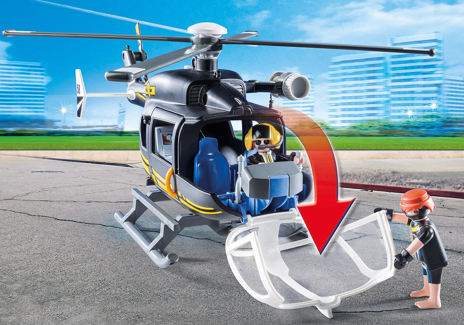 9363 Hélicoptère et policiers d'élite  zoom image5