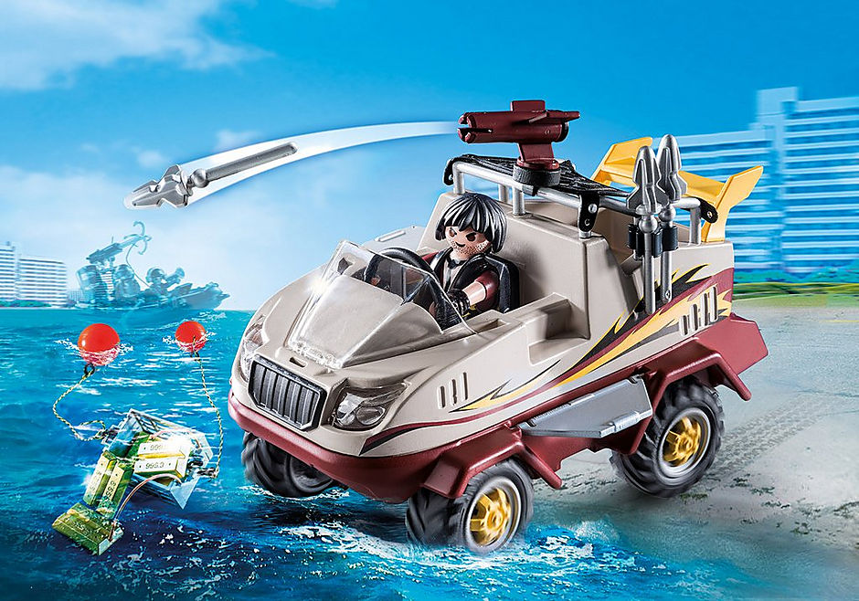 9364 Véhicule amphibie et bandit detail image 1