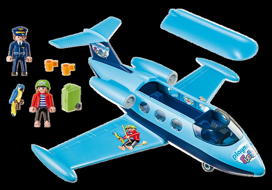 9366 PLAYMOBIL-FunPark Vliegtuig met Rico detail image 3