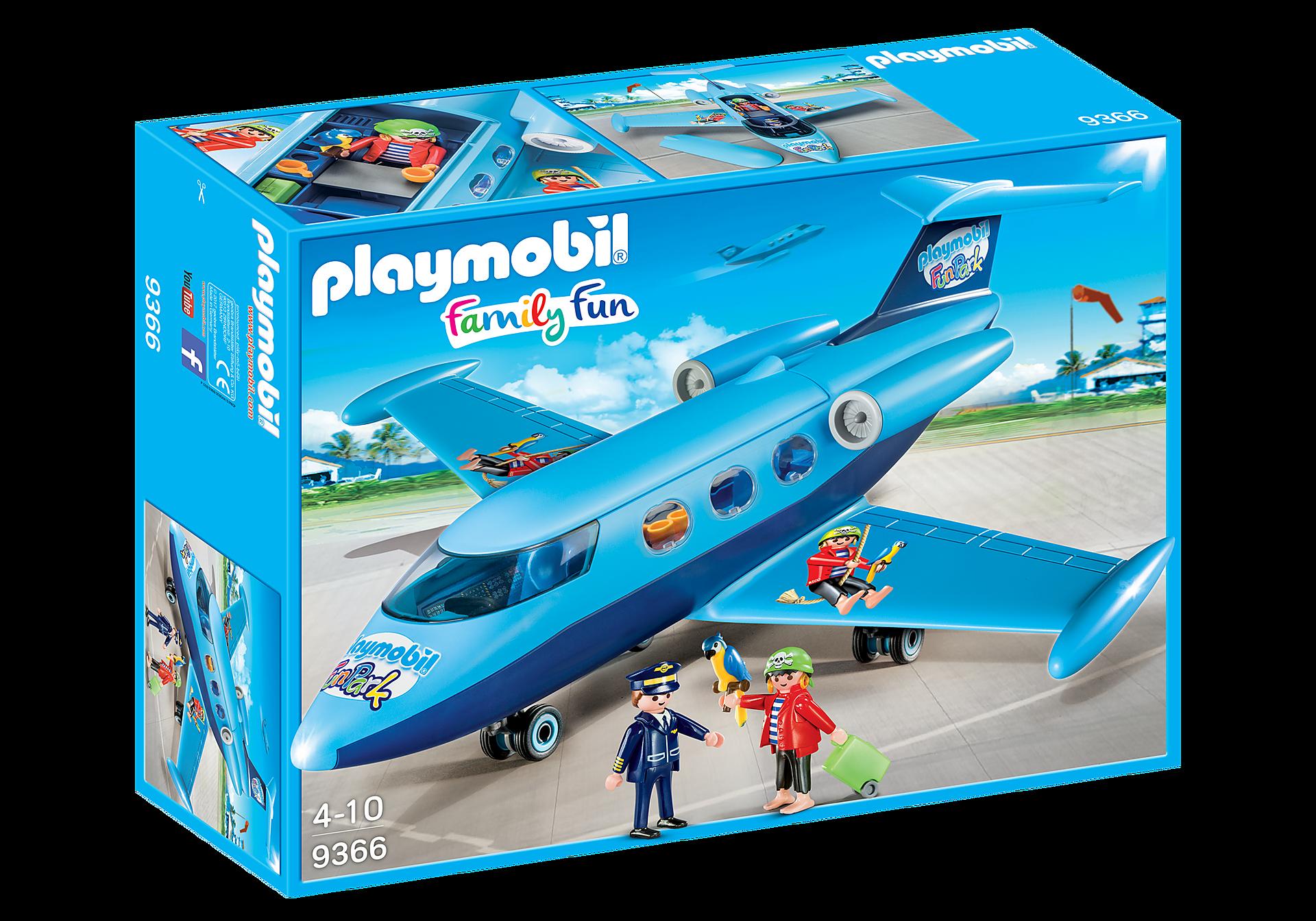9366 PLAYMOBIL-FunPark Vliegtuig met Rico zoom image2
