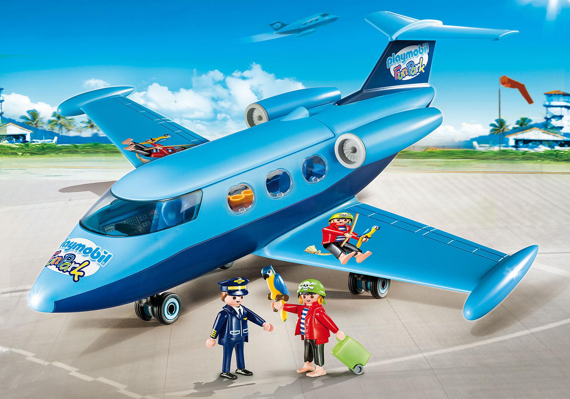 9366 PLAYMOBIL-FunPark Vliegtuig met Rico zoom image1