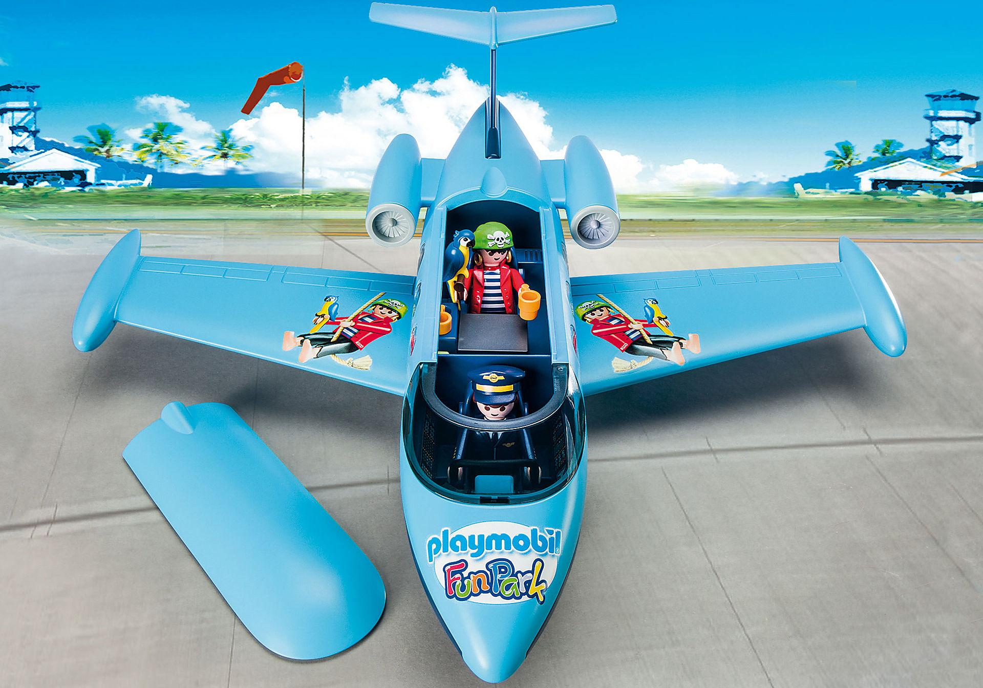 9366 PLAYMOBIL-FunPark Vliegtuig met Rico zoom image5